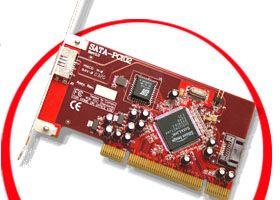 2-port 1x internal 1x external Serial ATA to PCI Host Adapter