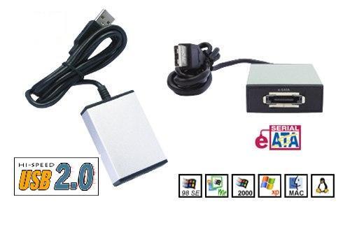 Hard Drive Adapter eSATA to USB 2.0 Adapter for Windows & Mac