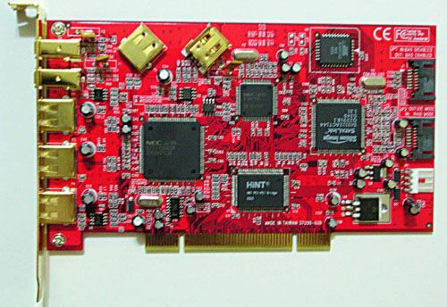 SATA RAID + USB 2.0 + 1394a 3-In-1 9 Port PCI Host