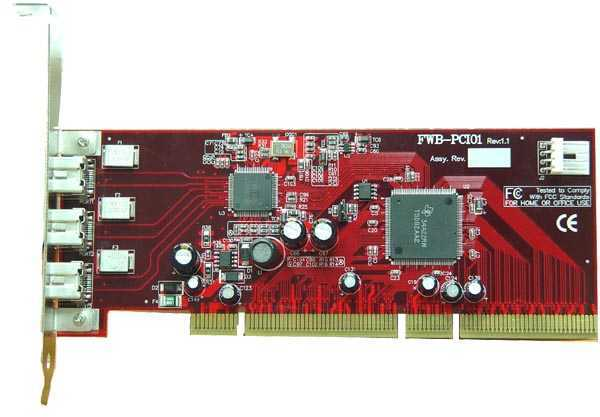 FireCard-800 1394b PCI adapter -  FireWire 800/1394 for all Windows and MAC machines with 64-bit PCI SLOT