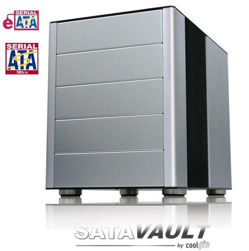 SATAVAULT Ultra Fast Quad Bay Open Bay 5.25Inch Aluminum Case