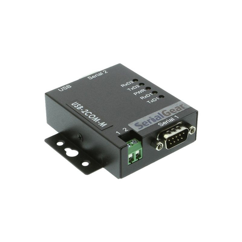 Metal Case DUAL PORT USB to Serial RS-232 DB-9 Adapter Cable