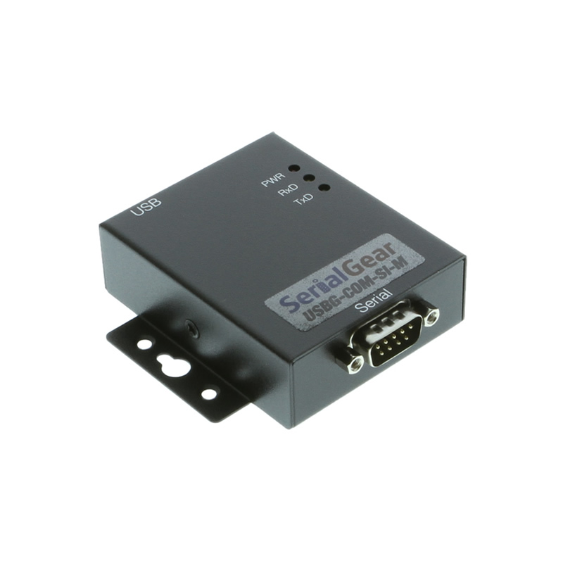 USB to RS-232 Optically Isolated Industrial Adapter with DIN-Rail