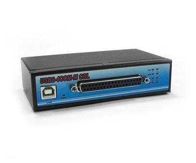 Industrial 4-Port RS-232 USB-to-Serial Adapter, Compact Metal Case with 1m Octopus Cable, DIN rail