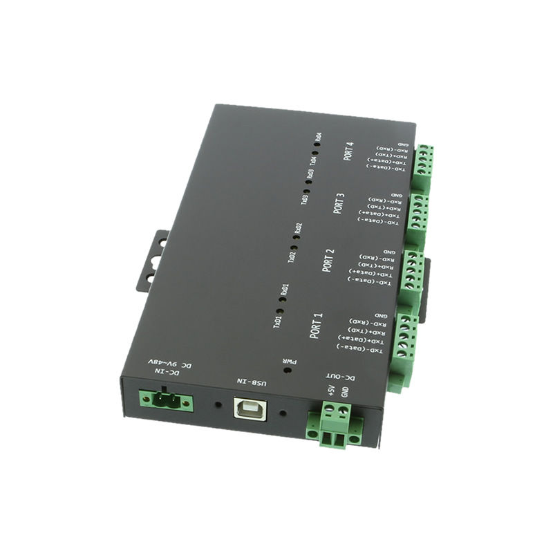USB 2 to Industrial 4-Port RS232-422-485 Serial TB Adapter