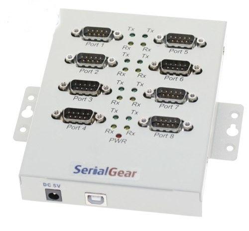 USB USB 2.0 Serial high speed adapter box industrial 8-port RS-232 FTDI