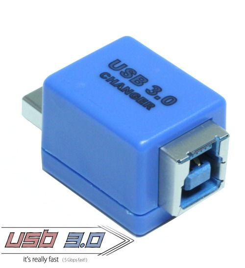 USB 3.0 Gender Changer A Male to B Female