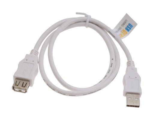 USB 2.0 Hi-Speed A to A Extension Cable 24-inch Pure White
