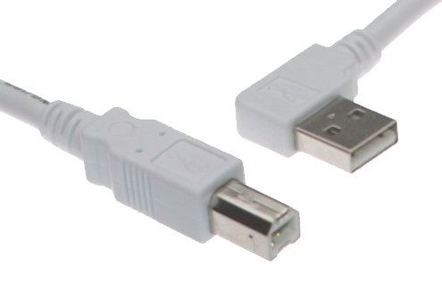 6ft. White USB Cable A Right Angle to B USB 2.0 Device Cable