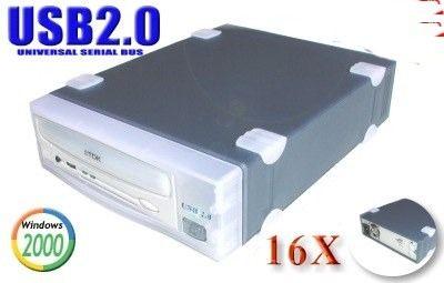 USB 2.0 16x10x40 CD-RW Drive for MAC and Windows