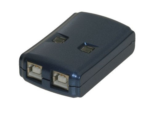2-Port A/B manual and HOT KEY Mini switch for two computers