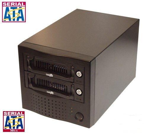 USB 2.0 Output Dual Removable SATA Hard Drive Enclosure