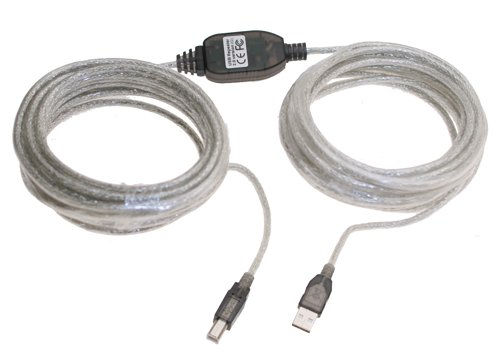 Hi-Speed USB 2.0 Active Cable A Male to B Male, 36ft. Long