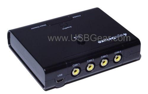 USB Digital Video Recorder 4 video Input 120 fps real-time USB Surveillance Video Grabber