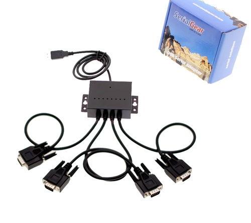 10ft. USB 4 Port Serial Adapter  USB 2.0 Quad Port Serial DB-9 RS-232