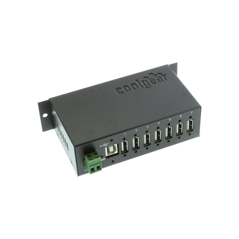 Metal 7-Port USB 2.0 Hub w/ DIN RAIL Mounting Kit Japan NEC Chip
