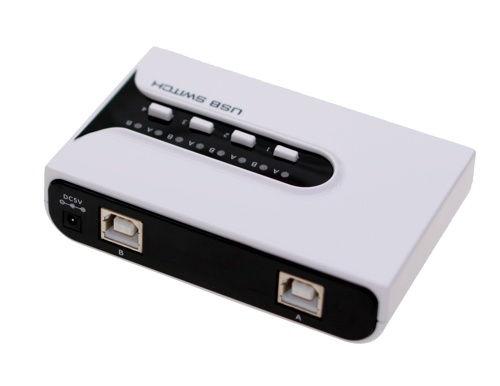 USB 4 port switch 2-Host to 4-Device Switch USB 2.0 high speed