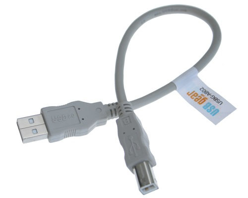 USB Cable A to B, 8 inch High-Speed USB 2.0