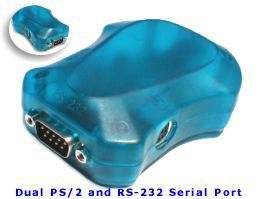 Dual Port USB to PS/2 and Single RS-232 Serial for Windows 98/ME/2000 and XP
