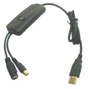 USB Video capture Adapter S-Video and RCA Composite Cable