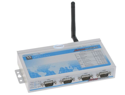 NetCom 423 WLAN - WiFi server - Ethernet / 4 RS232 / RS422 / RS485 serial ports