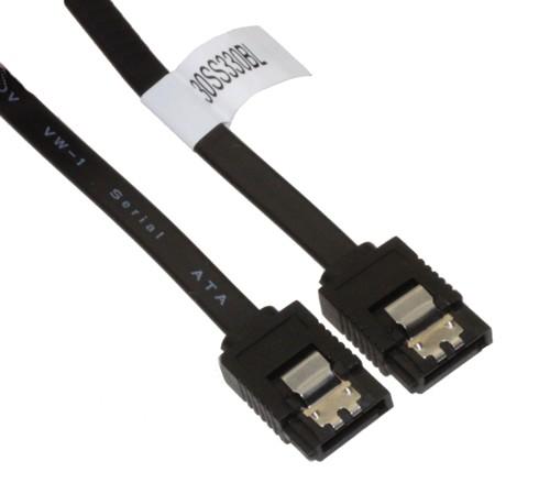 """19"""" Black SATA II Cable W/ Latch 30SS483BL"""