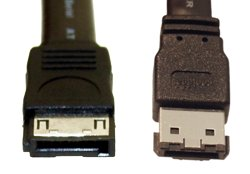 """6ft SATA to eSATA """"I"""" to """"L"""" Cable"""
