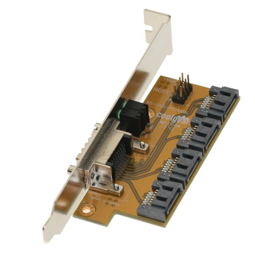 4-channel SATA PCI Bracket to MultiLane Adapter