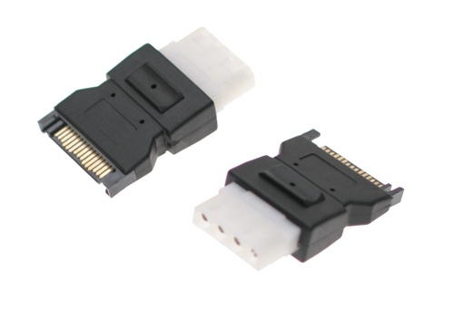 SATA to Molex Power Cable Adapter 15-pin Female to 4-pin Male