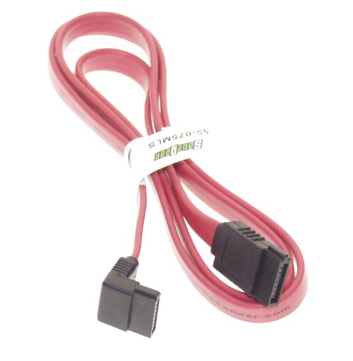 Serial ATA Cables > Signal Cables > SATA- Left Angle to Straight