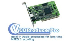 VCD Producer Pro PCI Hardware MPEG-1 Encoder for Windows