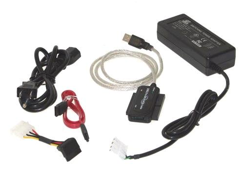 Mini USB 2.0 to SATA adapter for all SATA and SATA II HDD