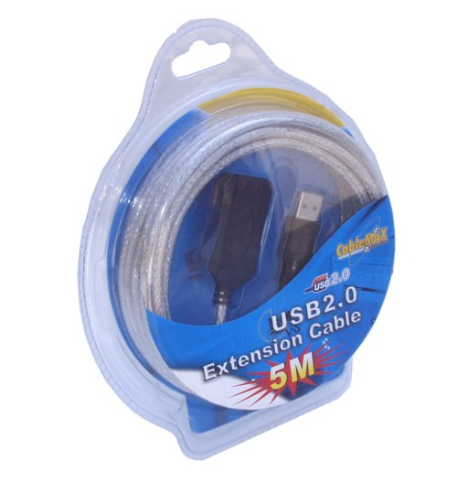 16ft USB 2.0 High-Speed Active Extension Cable Stack to 5 for 80ft.