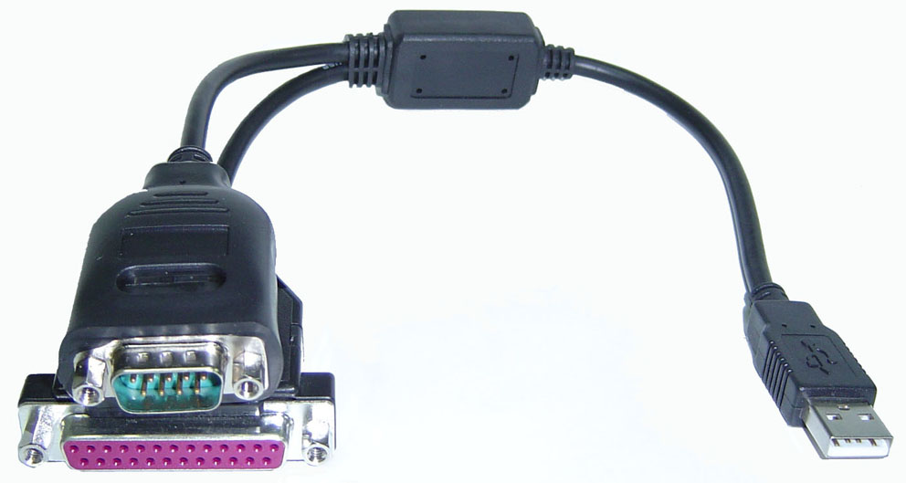 USB to RS-232 & Printer Port Cable