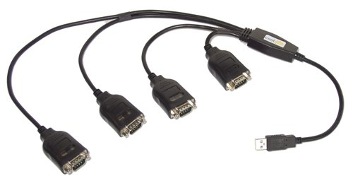 USB Four Port Serial DB-9 RS-232 Adapters with Prolific Chipset