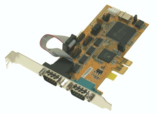 2-Port Serial RS-232 PCI-Express Card