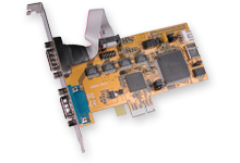 2S RS-232 PCIE Card 2-Port Serial PCI Express 1x Card