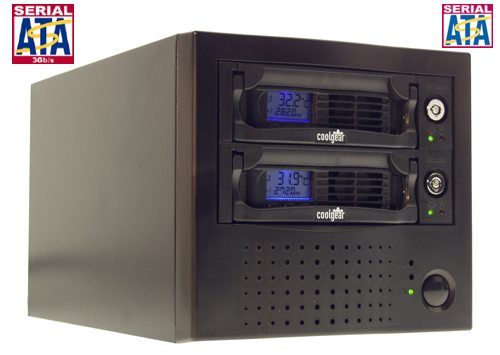 Dual Drive Native SATA Drive Removable System with SATA II External Ports