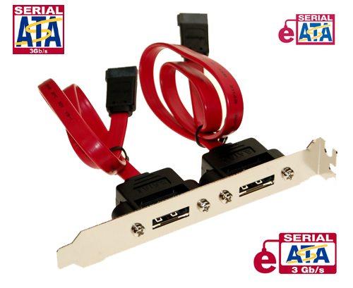 eSATA SATA II 3GB External PCI Bracket 18cm Long Cables