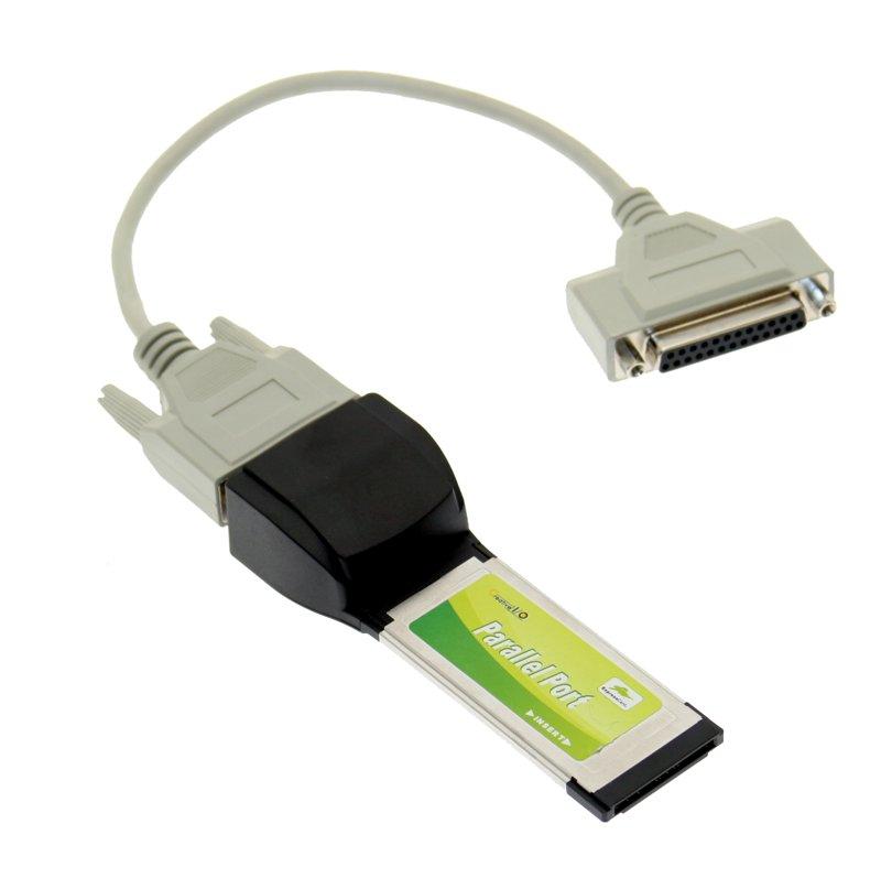 (OPEN BOX) 1 Port Parallel SPP/EPP/ECP ExpressCard 34mm Printer Port Adapter