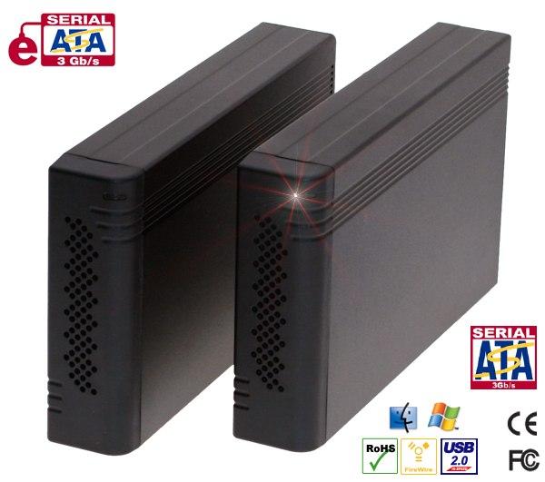 Firewire 800+ eSATA + USB HDD Enclosure for SATA II 3.5
