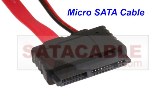 Micro SATA 1.8 inch all in one power and data cable 20 inch.