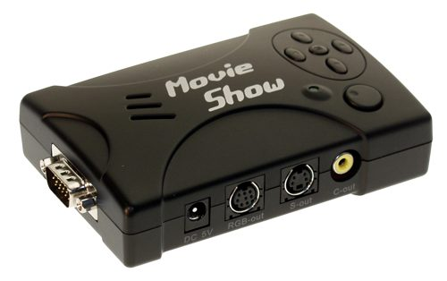Laptop/DeskTop PC to TV Converter, MovieShow Convert any HD-15 Video to standard S-Video or Composite