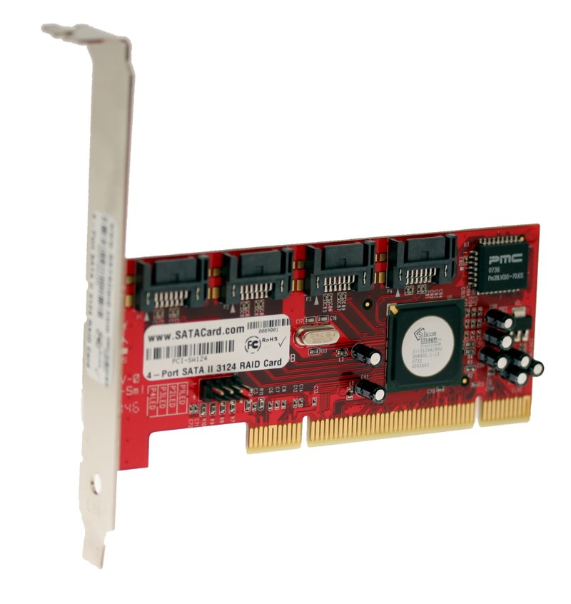 Raid5 SATA II – 3Gbps 4Ports Low Profile PCI Host
