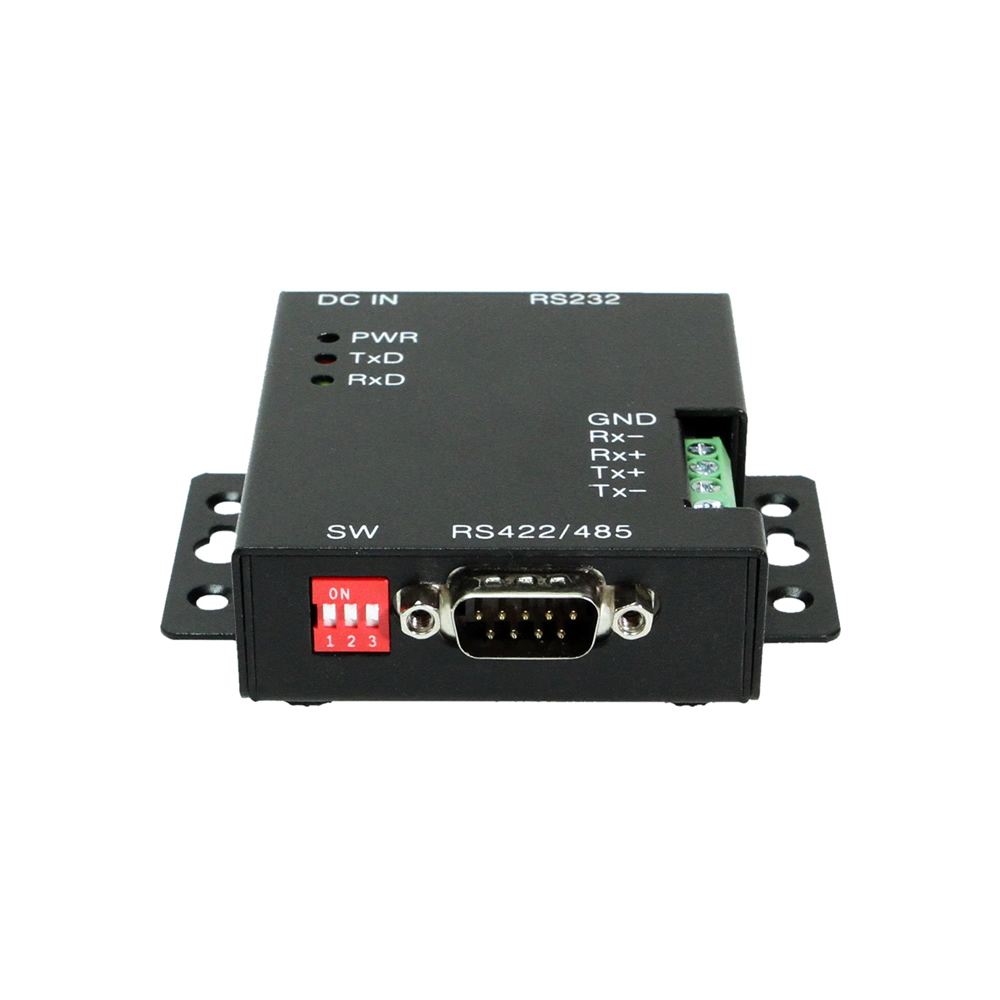 RS232 Serial to RS422/485 w/2000V DC Optical Isolation and Surge