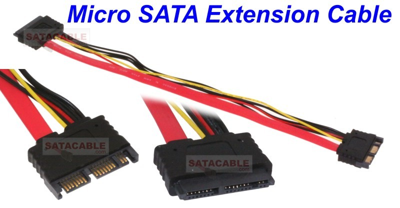 "12"" MICRO SATA DEVICE Extension Male To Female"