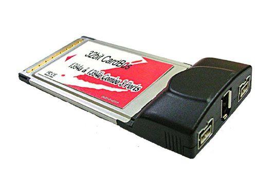IEEE1394B & 1394a(TI) Combo CardBus 3Ports
