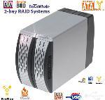 2-Bay USB 2.0 and Firewire 800 RAID System for SATA I and SATA II Hard Drives