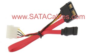 "9"" SLIMLINE ""MINI"" SATA CABLE (CABLE SIDE Male Connector)"