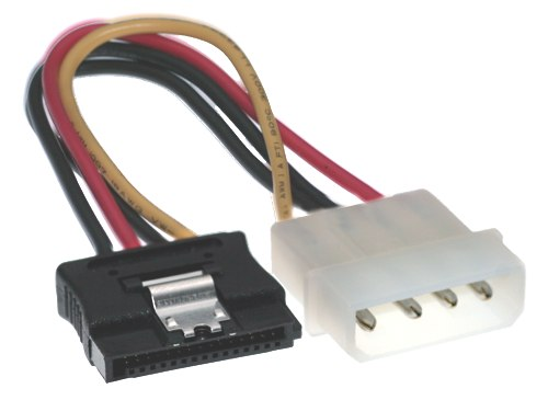5 Inch Molex to SATA Latching Power Cable